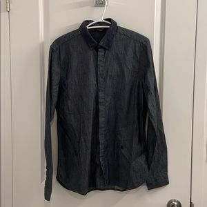 The Kooples fitted dark jeans shirt